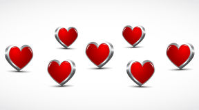 3d hearts background Royalty Free Stock Photo