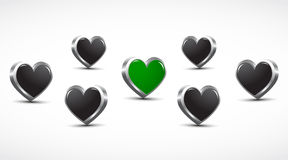 3d hearts health concept Stock Photo