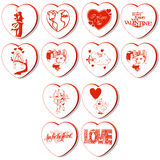 3d hearts vector Royalty Free Stock Photography