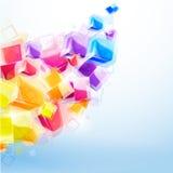 3d heldere abstracte achtergrond Stock Afbeelding
