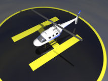 3D Helicopter Stock Images