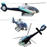 3d helicopter collection Royalty Free Stock Photo