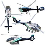 3d helicopter collection Royalty Free Stock Image
