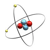 3d Helium Atom Stock Photography
