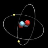 3d Helium Atom Stock Photo