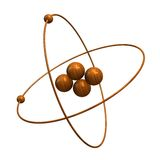 3d Helium Atom in wood Royalty Free Stock Photos