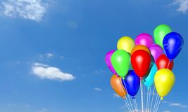 3d helium balloons Royalty Free Stock Photos