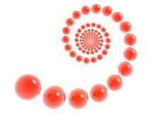 3D helix. 3D red helix (hi res royalty free illustration