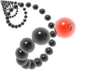 3D helix Royalty Free Stock Images