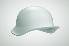 3D helmet army soldier. Helmet army soldier  3D illustration on background Stock Photo