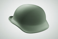 3D helmet army soldier. Helmet army soldier  3D illustration on background Royalty Free Stock Photo