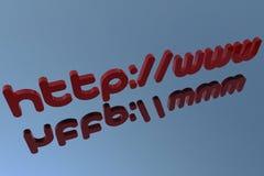 3D het adres van HTTP royalty-vrije illustratie