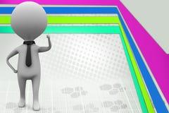 3d het bedrijfsmens denken illustratie Stock Foto's