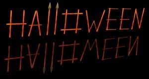 3D het beeld van een woord Halloween Royalty-vrije Stock Foto's