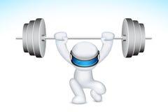 3d het opheffen van de Mens Gewichten in vector stock illustratie