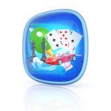 3d het pictogram van spelen Royalty-vrije Stock Foto