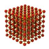 3d het roosterstructuur van het kristal stock illustratie