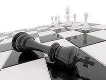 3D het schaak geeft terug Stock Afbeelding