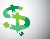 3D het tekenraadsel van de dollar Royalty-vrije Stock Afbeelding