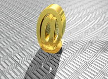 3D het teruggeven goud bij symbool Royalty-vrije Stock Fotografie