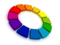 3D het Wiel van de kleur Royalty-vrije Stock Afbeelding