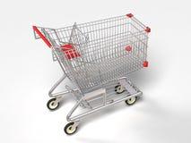 3D het winkelen karretje Stock Foto