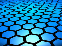 3D Hex Hexagon Hexagons Background. 3D hexagon hexagons hex background Royalty Free Stock Image