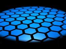 3D Hexagon Abstracte Achtergrond Royalty-vrije Stock Afbeeldingen