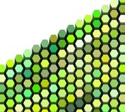 3d hexagon in multiple green on white Royalty Free Stock Photos