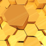 3D hexagons background Stock Photography