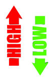 3D High low. Three-dimensional Arrow high and low Stock Images