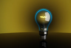 3d High-quality lightbulb. Stock Photo
