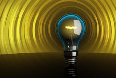 3d High-quality lightbulb. With lightcape. 3d High-quality lightbulb. Creativity concept Royalty Free Stock Images