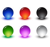 3D high quality sphere set. 3-Dimensional High Quality Sphere Set With Various Colors Royalty Free Stock Image