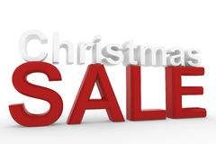 3d High resolution image Christmas sale sign Royalty Free Stock Photography