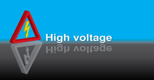 3D High Voltage Royalty Free Stock Image
