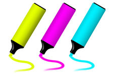 3D Highlighter Set Stock Photo