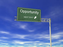 3D Hightway Billboard: Opportunity Stock Photography