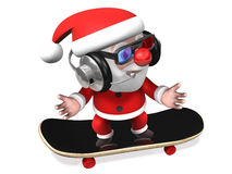 3d hip-pop style santa claus Stock Photos