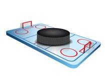 3d Hockey field. Vector of a 3d Hockey field Stock Photos