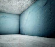 3d hoek, beton gepleisterd binnenland Stock Afbeelding