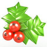 3d Holly berries Royalty Free Stock Photo
