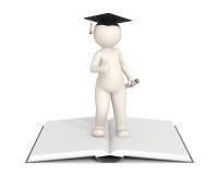 3d hombre - graduación - pulgares para arriba Imágenes de archivo libres de regalías