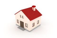 3d home. With nice render Stock Photography