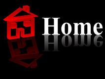 3d home. Isolated on black background Royalty Free Stock Images