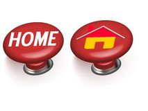 3d home buttons Stock Photos