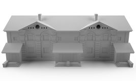 3d home grey Royalty Free Stock Images