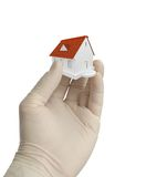 3d home on the hand Royalty Free Stock Photo