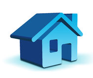 3D Home icon. Three - dimensional Shape with home icon vector illustration