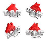 3d home icon array Royalty Free Stock Image